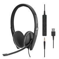 Sennheiser SC 165 USB-A & 3.5mm Stereo Corded Headset for PC & Mobile