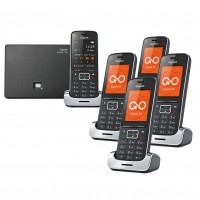 Siemens Gigaset SL450A GO Cordless Phone - Black Edition, Five Handsets - 1