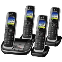 Panasonic KX-TGJ324EB Cordless Phone, Quad Handset with Nuisance Call Blocker