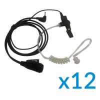 Motorola Earpiece Twelve Pack with PTT & Mic for TLKR Series