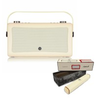VQ Hepburn Mk II  Portable DAB+/FM Radio & Bluetooth Speaker with Rechargeable Battery Pack in Cream - 1