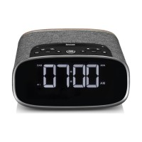 VQ Lark Bedside DAB Radio & Alarm Clock in Black & Walnut