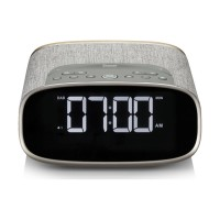 VQ Lark Bedside DAB Radio & Alarm Clock in Grey & Oak