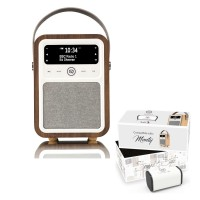 VQ Monty Portable DAB/FM Radio & Bluetooth Speaker with Rechargeable Battery Pack in Walnut