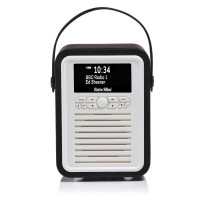 VQ Retro Mini Portable DAB Radio with Bluetooth in Black
