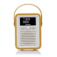 VQ Retro Mini Portable DAB & FM Radio with Bluetooth in Mustard