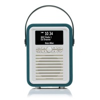 VQ Retro Mini Portable DAB Radio with Bluetooth in Teal