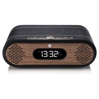 VQ Rosie Lee DAB/DAB+ Digital Radio & Bluetooth Speaker - Real Wood - Black Leather & Walnut