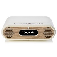 VQ Rosie Lee DAB/DAB+ Digital Radio & Bluetooth Speaker - Real Wood - Cream Leather & Oak