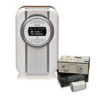 VQ Christie Retro DAB Radio & Bluetooth Speaker in Brown with Rechargeable Battery Pack
