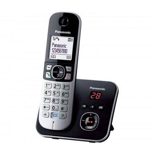 Panasonic KX-TG 6821 Cordless Phone, Single Handset with Answer Machine - 1