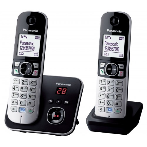 Panasonic KX-TG 6822 Cordless Phone, Twin Handset with Answer Machine - 1