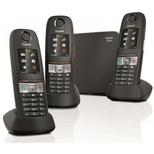 Siemens Gigaset E630A Robust DECT Cordless Phone, Trio Handset - 1