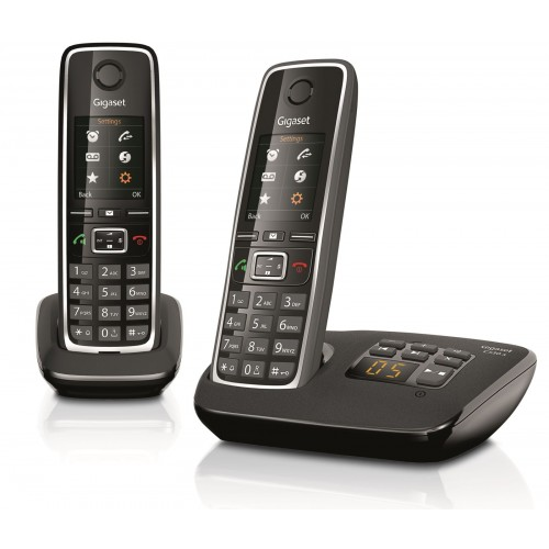 Siemens Gigaset C530A Cordless Phone, Twin Handset with Answer Machine - 1