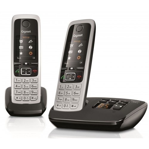 Siemens Gigaset C430A Cordless Phone, Twin Handset with Answer Machine - 1