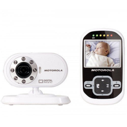 Motorola MBP26 Digital Video Baby Monitor with 2.4 inch Display - White/Black