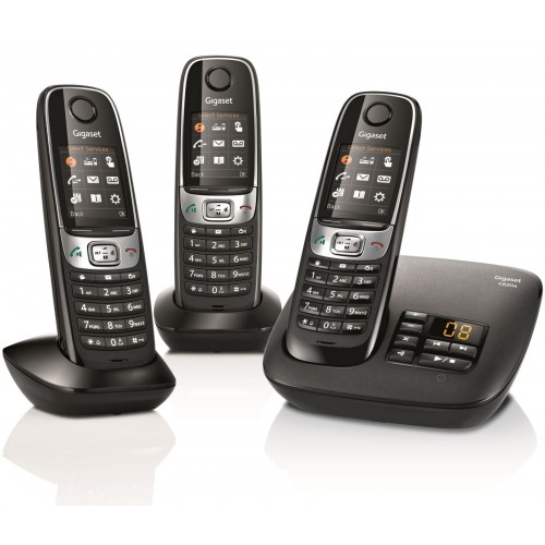 Siemens Gigaset C620A Cordless Phone, Trio Handset with Answer Machine