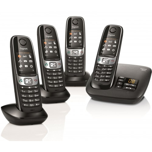 Siemens Gigaset C620A Cordless Phone, Quad Handset with Answer Machine