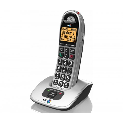 BT 4000 Big Button Cordless Phone, Single Handset