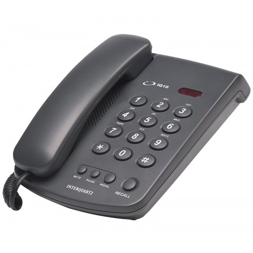 Interquartz IQ10 Corded Phone (Black)