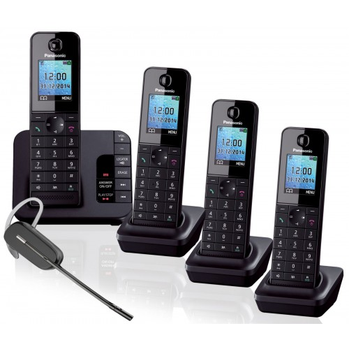 Panasonic KX-TGH224 Quad with Plantronics C565