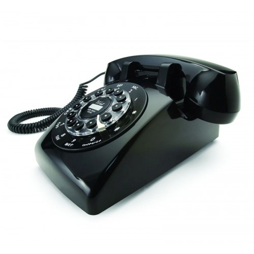Wild & Wolf Dreyfuss 500 Classic Corded Telephone, Black