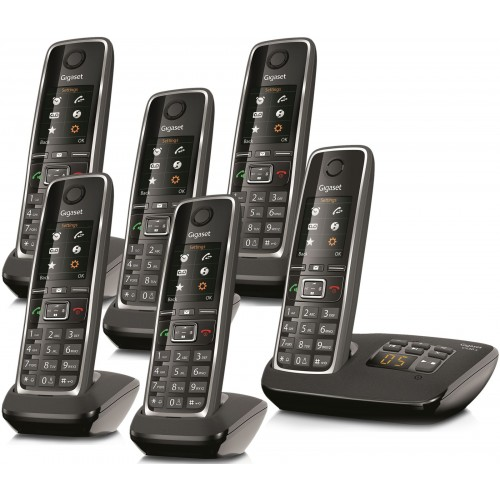 Siemens Gigaset C530A Cordless Phone, Six Handsets with Answer Machine