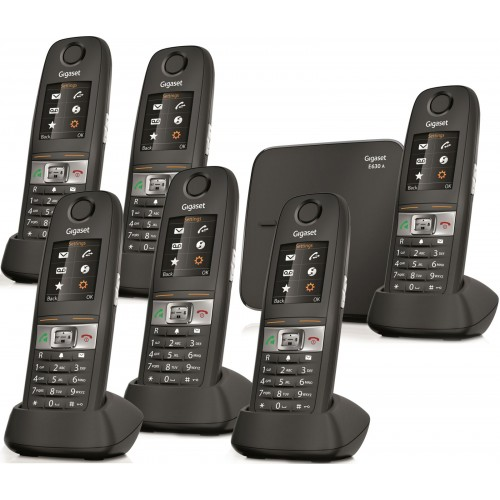 Siemens Gigaset E630A Robust DECT Cordless Phone, Six Handsets