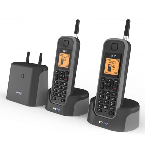 BT Elements 1K Twin Long Range Cordless Telephone