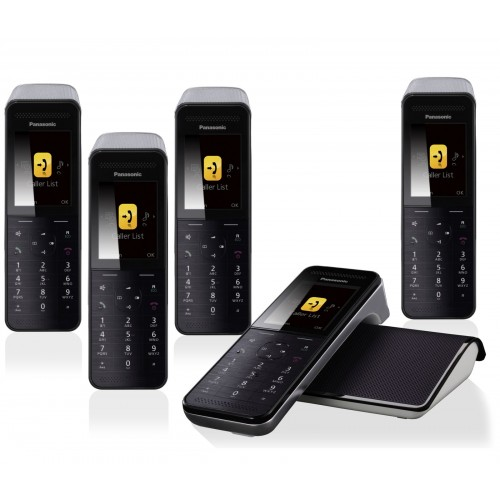 Panasonic KX-PRW 120 Premium Cordless Phone, Five Handsets with Answer Machine - 1