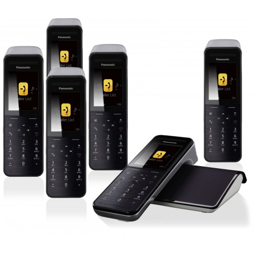 Panasonic KX-PRW 120 Premium Cordless Phone, Six Handsets with Answer Machine - 1