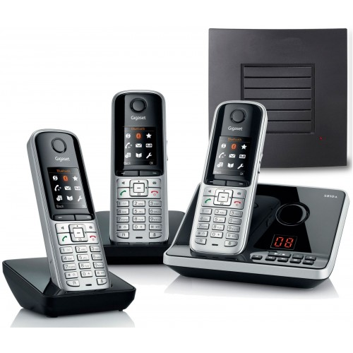 gigaset s810a trio cordless home phones with extra range. Black Bedroom Furniture Sets. Home Design Ideas