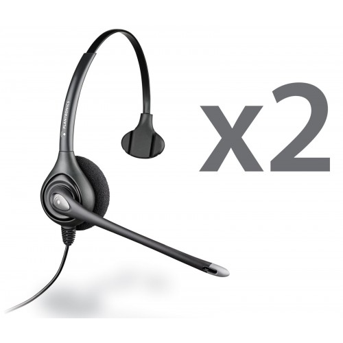 Plantronics HW351N Twin Mono Corded Headsets