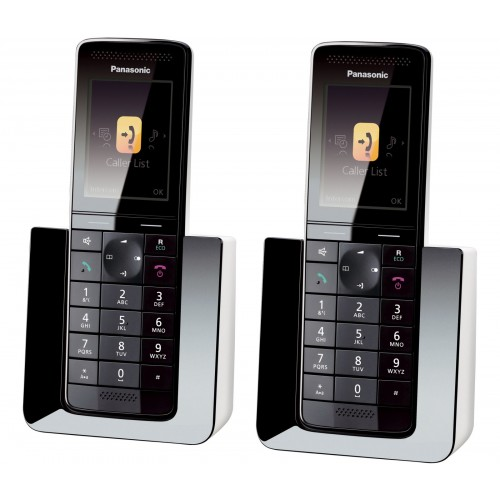 Panasonic KX-PRS120EW Cordless Phone, Twin Handset with Answer Machine