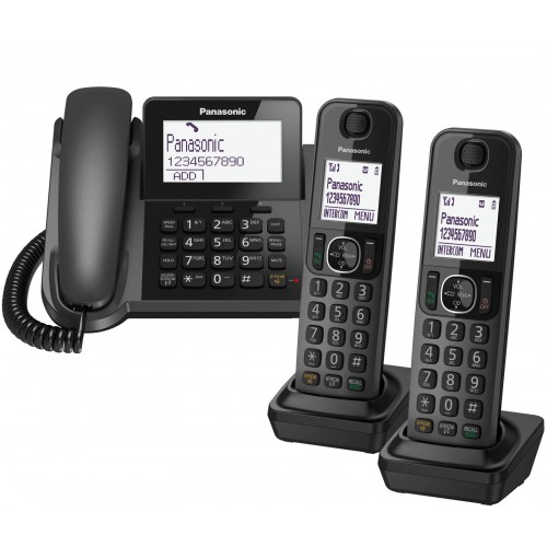 Panasonic KX-TGF323 Corded Phone & 2 Cordless Handsets