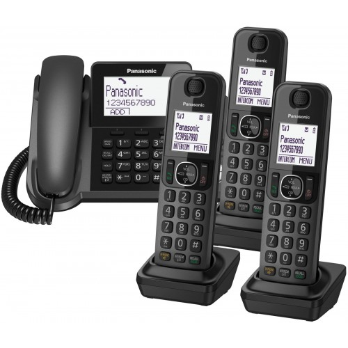 Panasonic KX-TGF324 Corded Phone & 3 Cordless Handsets - 1