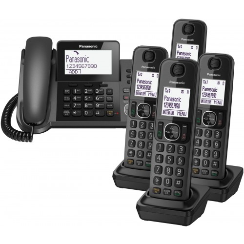 Panasonic KX-TGF325 Corded Phone & 4 Cordless Handsets
