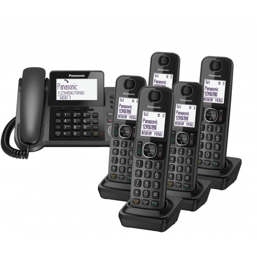 Panasonic KX-TGF326 Corded Phone & 5 Cordless Handsets