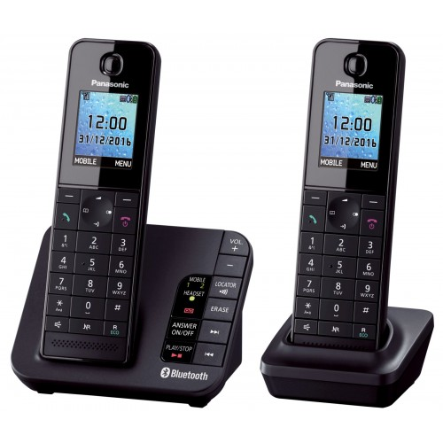 Panasonic KX-TGH262 Cordless Phone, Twin Handset with Link2Mobile - 1
