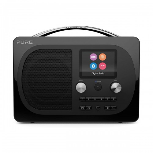 Pure Evoke H4 Prestige Edition DAB Radio & Bluetooth Speaker in Black
