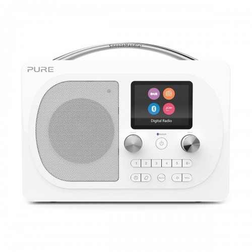 Pure Evoke H4 Prestige Edition DAB Radio & Bluetooth Speaker in White