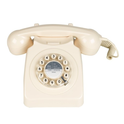 Wild & Wolf 746 Corded Phone in Cream