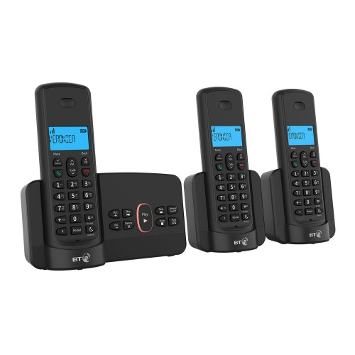 BT 3110 Cordless Phone Trio Handset with Answer Machine