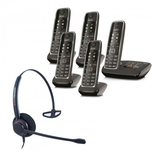 Siemens Gigaset C530A Quint Cordless Phones with Corded Headset