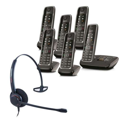 Siemens Gigaset C530A Sextet Cordless Phones with Corded Headset