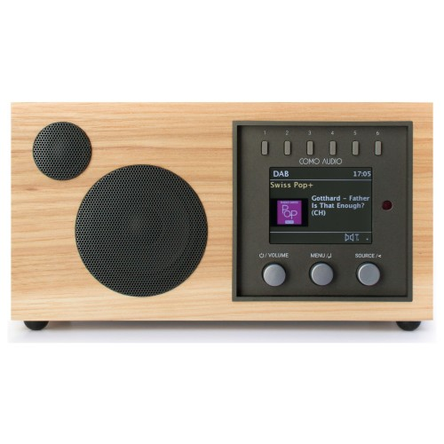 Como Audio Solo DAB+/FM Radio with Internet Radio & Multi-Room Functionality in Hickory