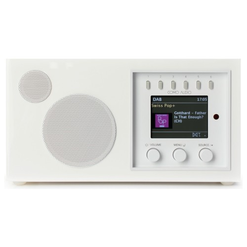 Como Audio Solo DAB+/FM Radio with Internet Radio & Multi-Room Functionality in White