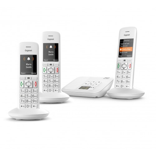 Siemens Gigaset Premium E370A Cordless Phone, Trio Handset with Big Buttons