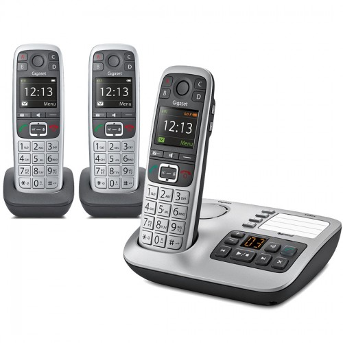 Gigaset E560A Cordless Phone, Trio Handset with Big Buttons
