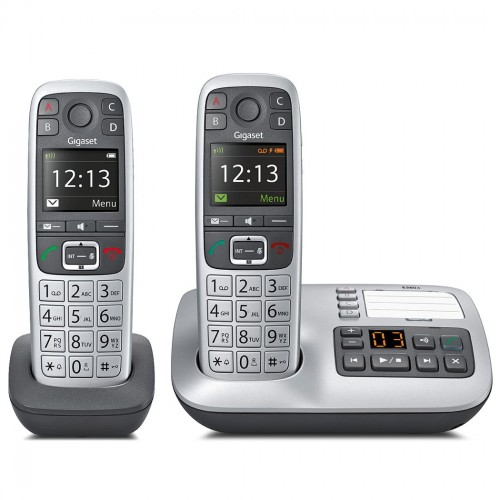 Gigaset E560A Cordless Phone, Twin Handset with Big Buttons